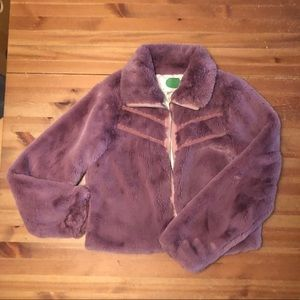Faux fur bomber by Anthropologie size M